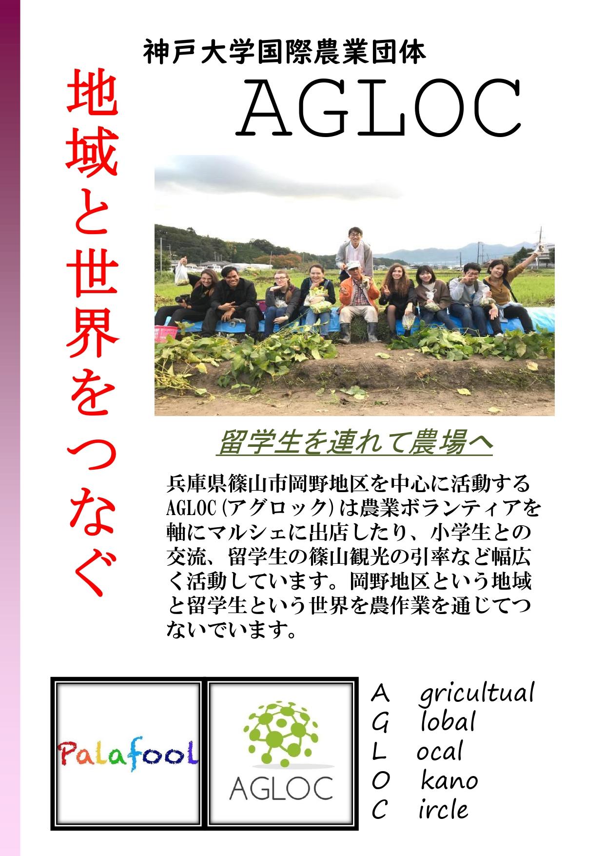 地域と世界をつなぐ 〜神戸大学国際農業団体AGLOC〜